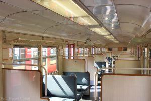 Der Innenraum in den beiden 2. Klasse-Endwagen