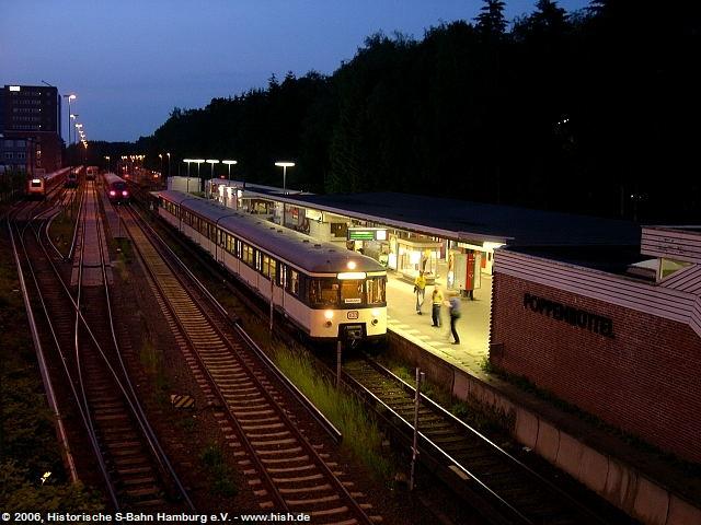 Angekommen in Poppenbüttel. Der Zug wird noch aufgeräumt, dann setzt er letztmals aus.
