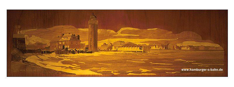 Gesamtanblick des Originalmotivs Cuxhaven aus den 1940er-Jahren