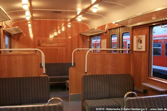 Fahrgastraum 1. Klasse mit Intarsien